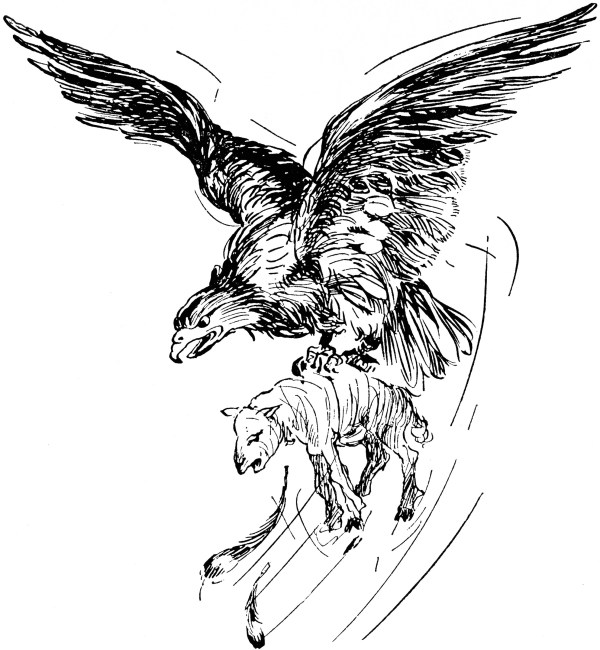 Eagle With Prey Clipart