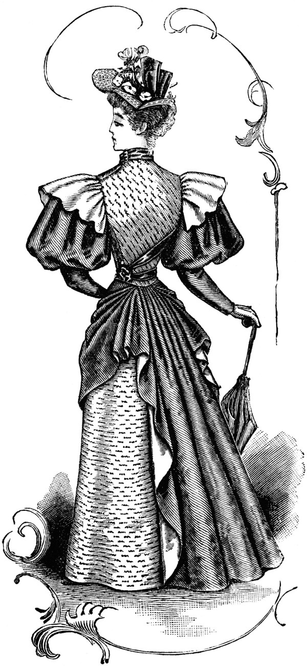Late 19th Century Dress Clipart