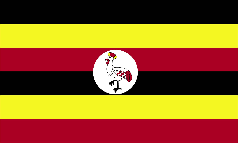 Flag of Uganda 2009  ClipArt ETC