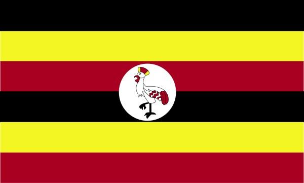 Flag Of Uganda 2009 Clipart