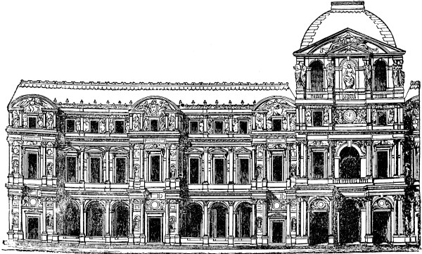 Faade Of Louvre Clipart
