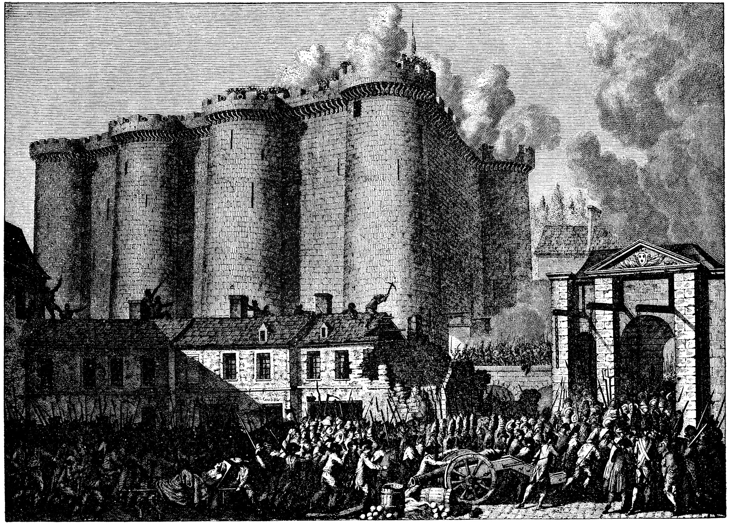 Storming Of The Bastille Clipart Etc