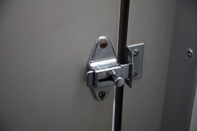 Lock on the Door of a Stall in a Public Bathroom  ClipPix ETC Educational Photos for Students
