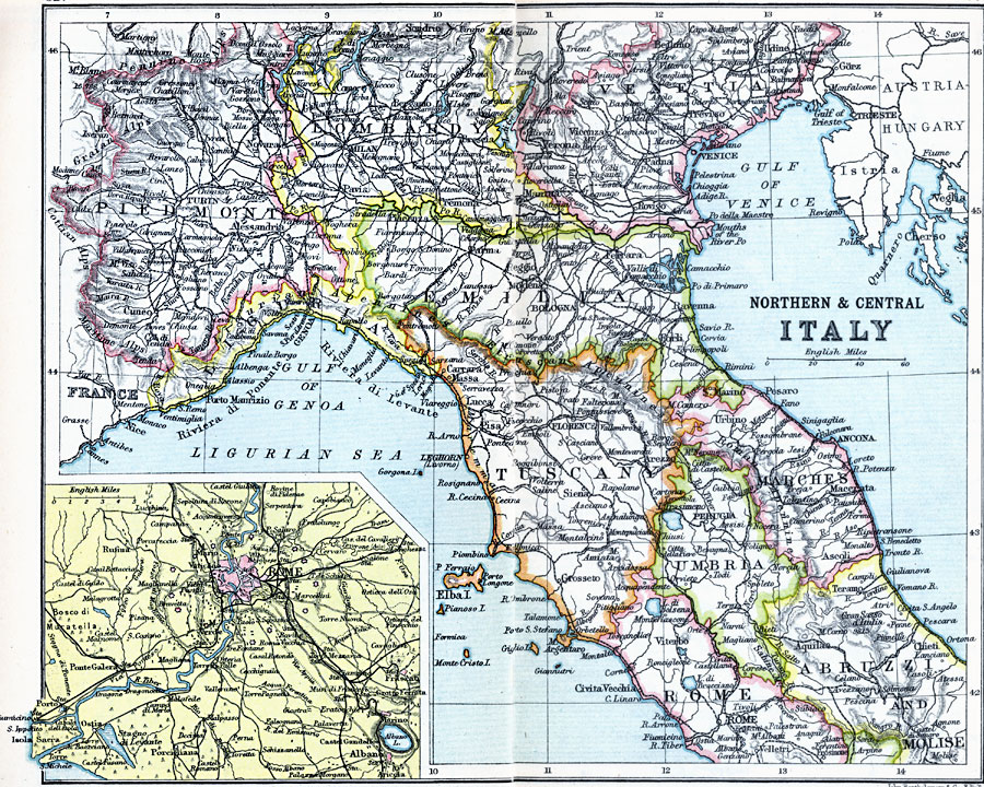 Major Lakes Map Of Italy