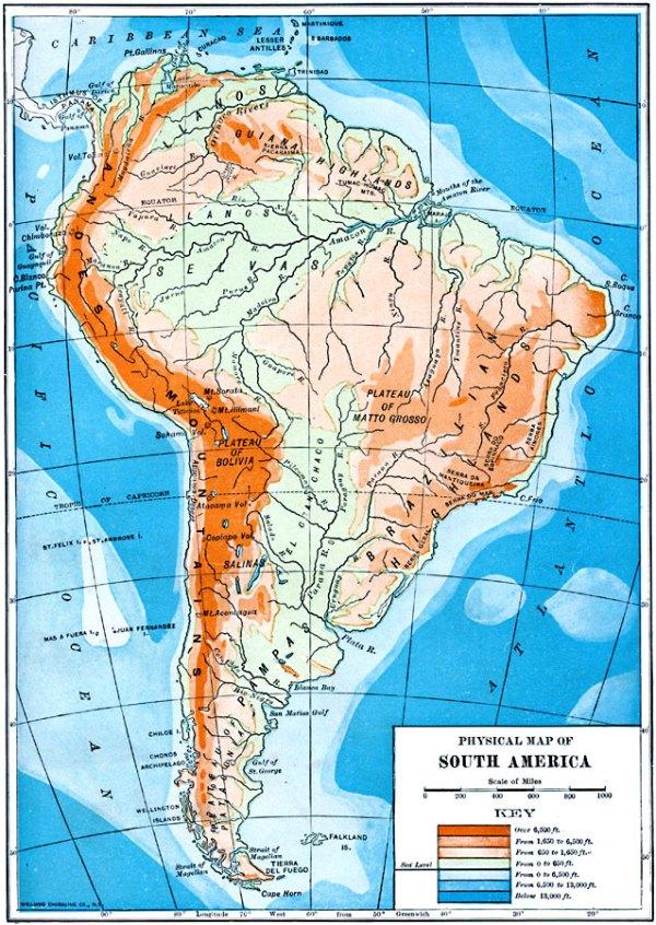 map of guyana showing mountain ranges digital magazine