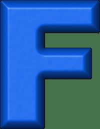 Presentation Alphabets: Blue Refrigerator Magnet F
