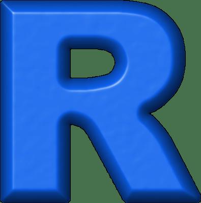 Presentation Alphabets Blue Refrigerator Magnet R