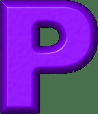 Presentation Alphabets Purple Refrigerator Magnet P