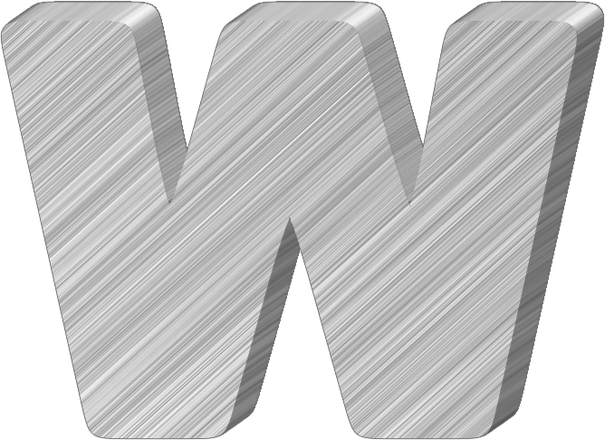 presentation alphabets aluminum 3