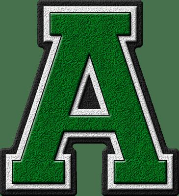 presentation alphabets green varsity