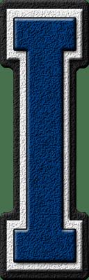 Presentation Alphabets Royal Blue Varsity Letter I