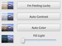 Some of Google Picasa's photo correction tools
