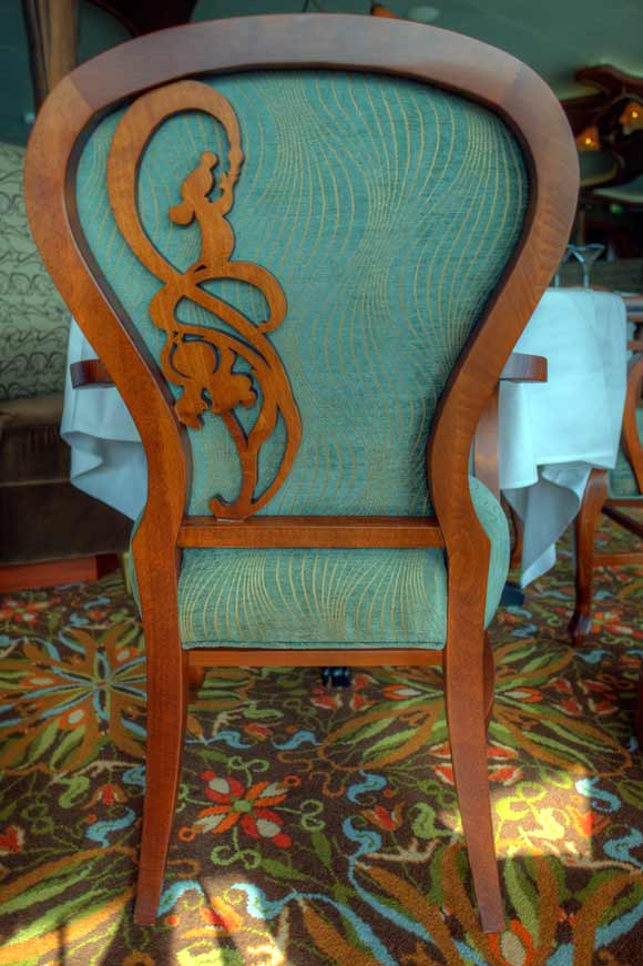 Detail of Remy in chair