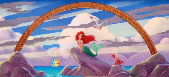 Drawing of Ariel and friends