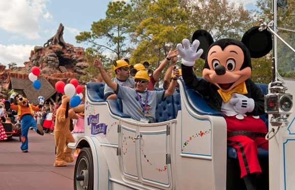 Grand marshalls during the Magic Kingdom parade