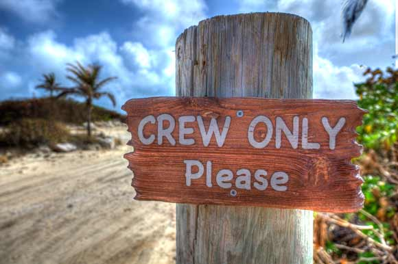 Crew Only area