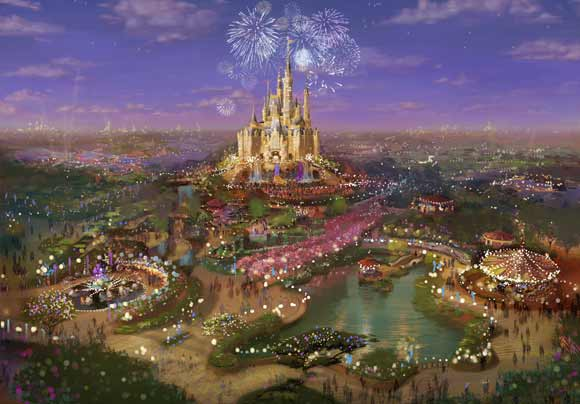 Illustration of park castle