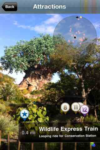 Augmented Reality, or AR, view of PixieSafari