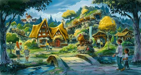 Seven Dwarfs Mine Train rendering