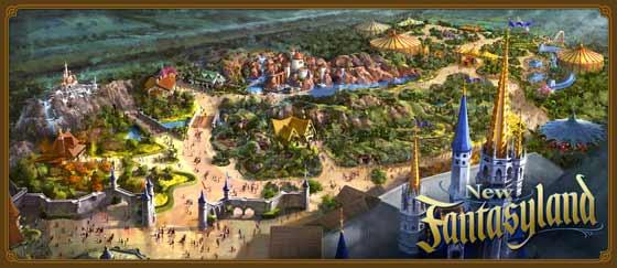New Fantasyland overview rendering