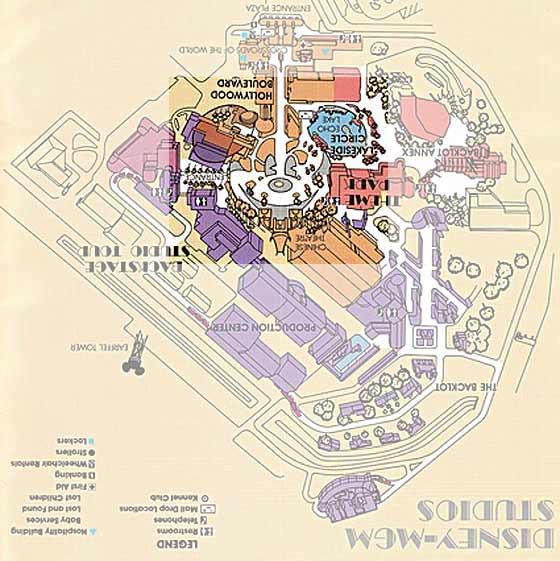 Disney-MGM Studios map