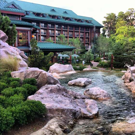Disney's Wilderness Lodge grounds