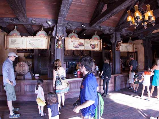 Counter service inside Gaston's Tavern