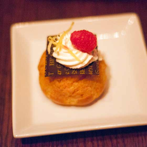Lemon Raspberry creme puff
