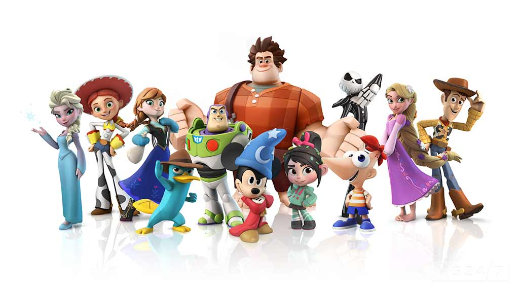 Some of the characters available in Disney Infinity