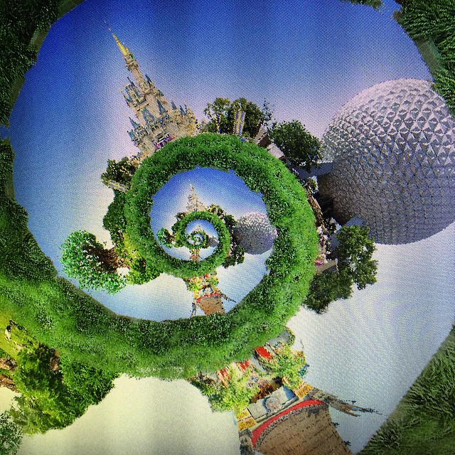 Work in Progress of new Four Park Droste Image