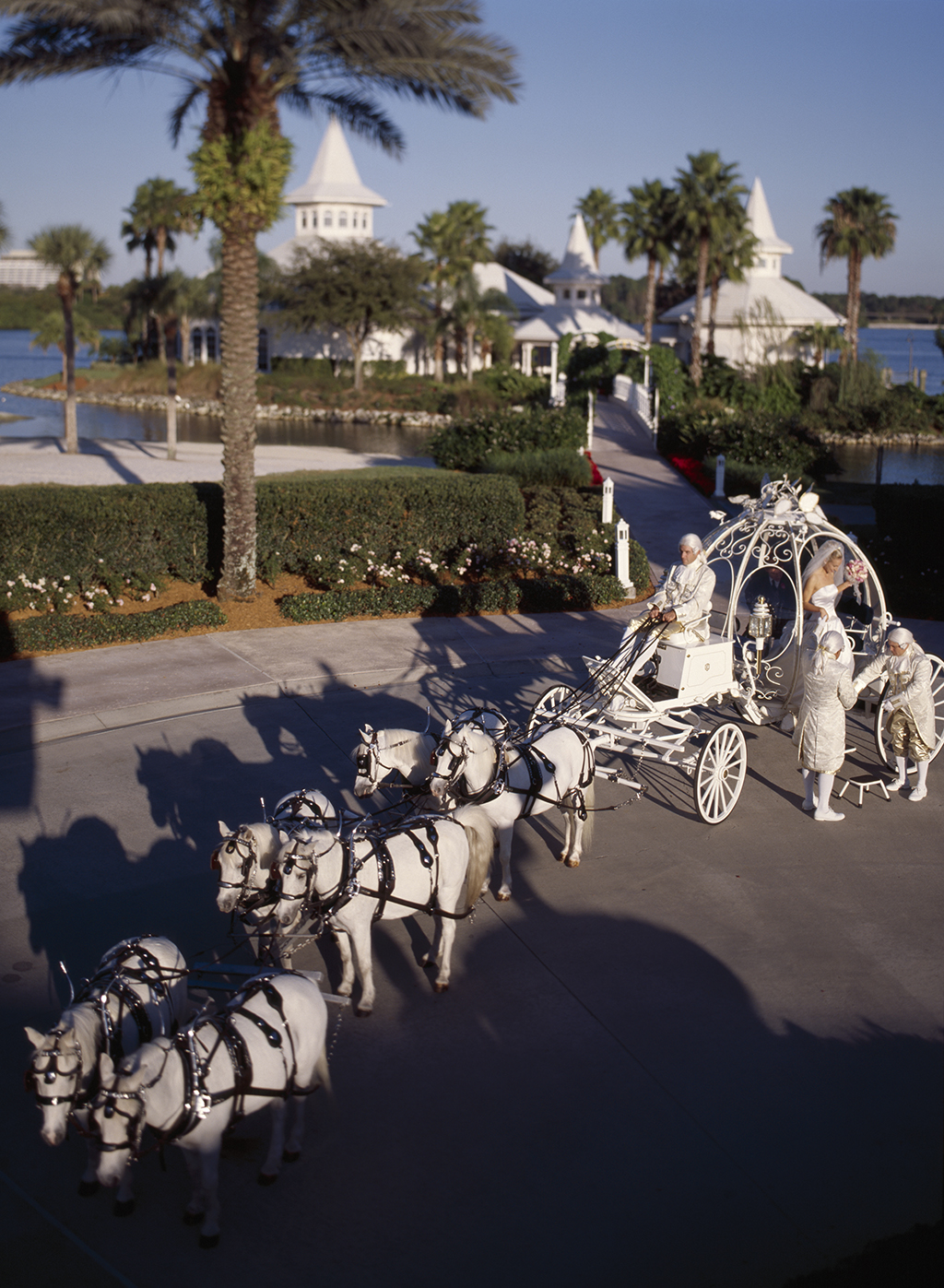 Cinderella coach at the Disney Wedding Pavilion
