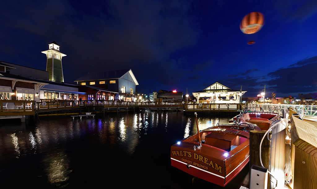 Nighttime view of The Boathouse restaurant