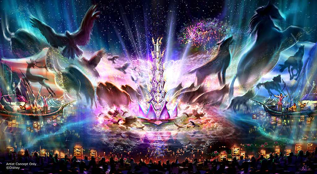 Concept art for the new Rivers of Light attraction at Disney's Animal Kingdom