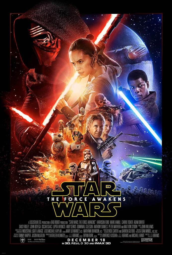 "ONe-Sheet theatrical release poster for ""Star Wars: The Force Awakens"""