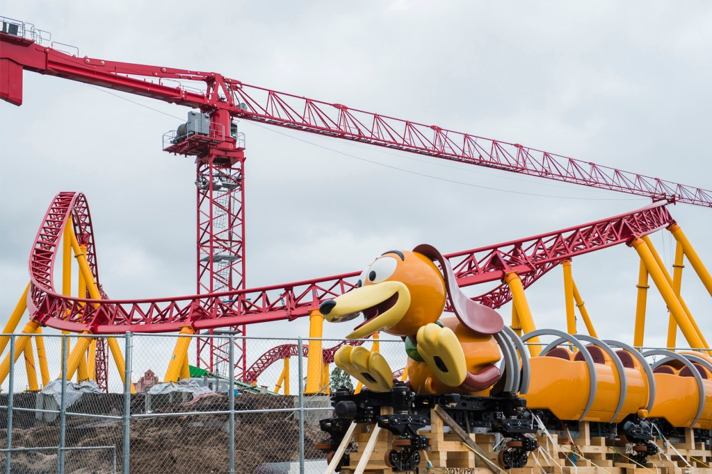 Slinky Dog Dash ride vehicle arrives on the site of Toy Story Land at Disney's Hollywood Studio