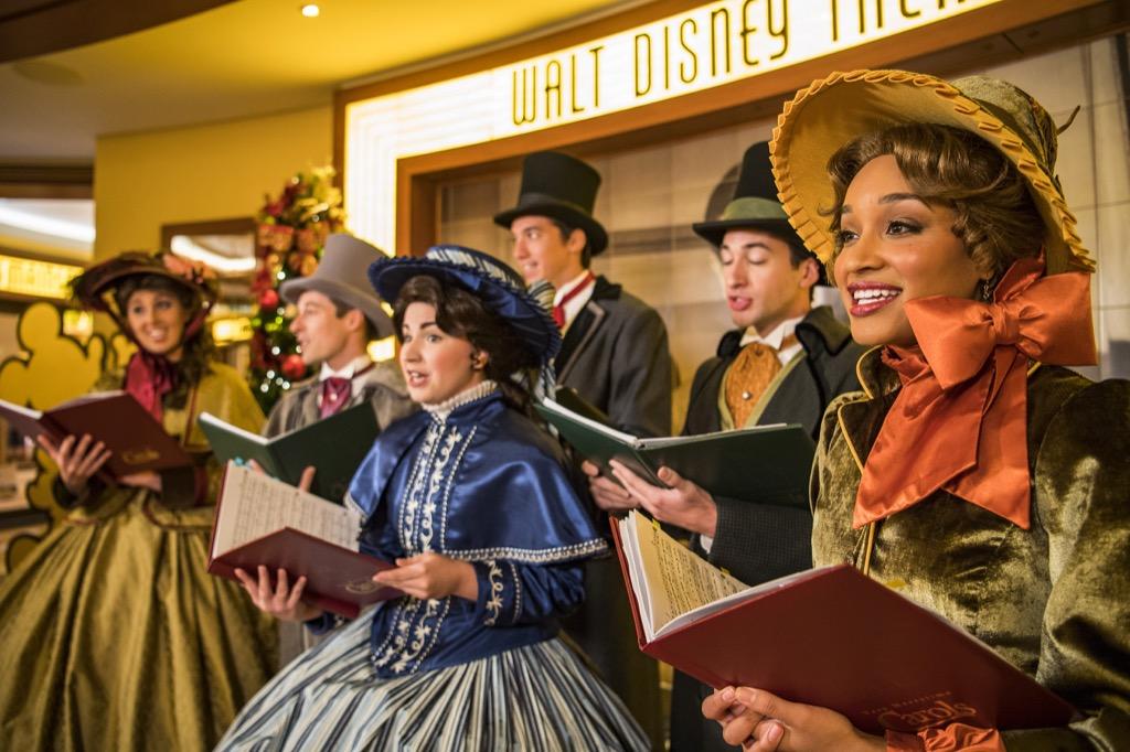 Carolers singing Christmas songs