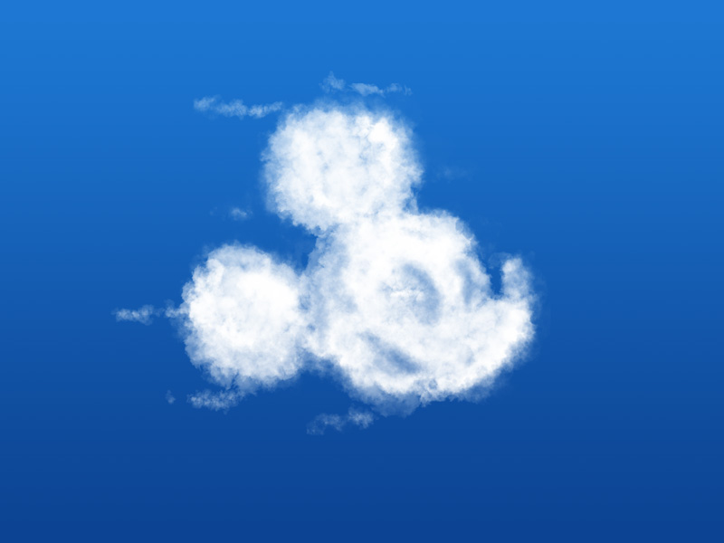 Mickey Mouse cloud on a blue sky