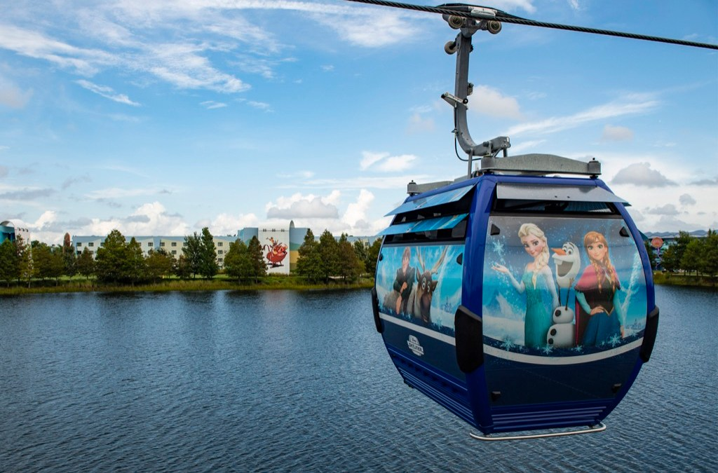 Magic in the air on Disney Skyliner