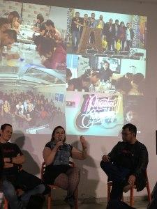 Pilar hablando de las dificultades del festival