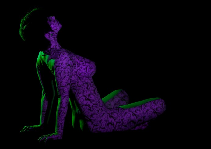modeling photography, art nude, nude photography, projection photography, light projection