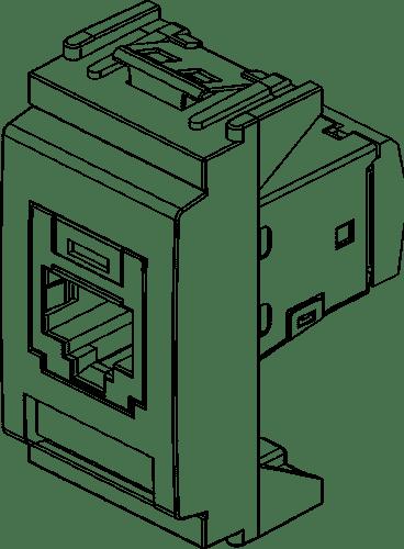 RJ45 Cat5e Panduit FTP outlet white 16364.2.B