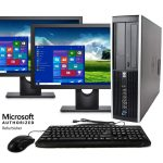 HP Compaq Pro 6300 SFF Computer Intel Core i5 3470 4GB 500GB HDD DVD Windows 10 Professional with 17″ Monitor and Free Keyboard, Mouse,Power cord,