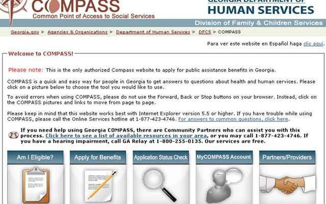 Apply Food Stamps Georgia Online Compass