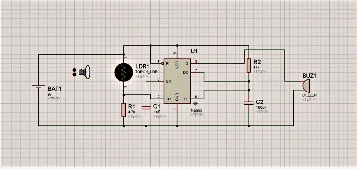 Circuit Diagram Using Ldr Electrical Wiring How To Make A Dark Sensor And 555 Timer