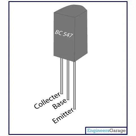 Terminals of Transistor BC547