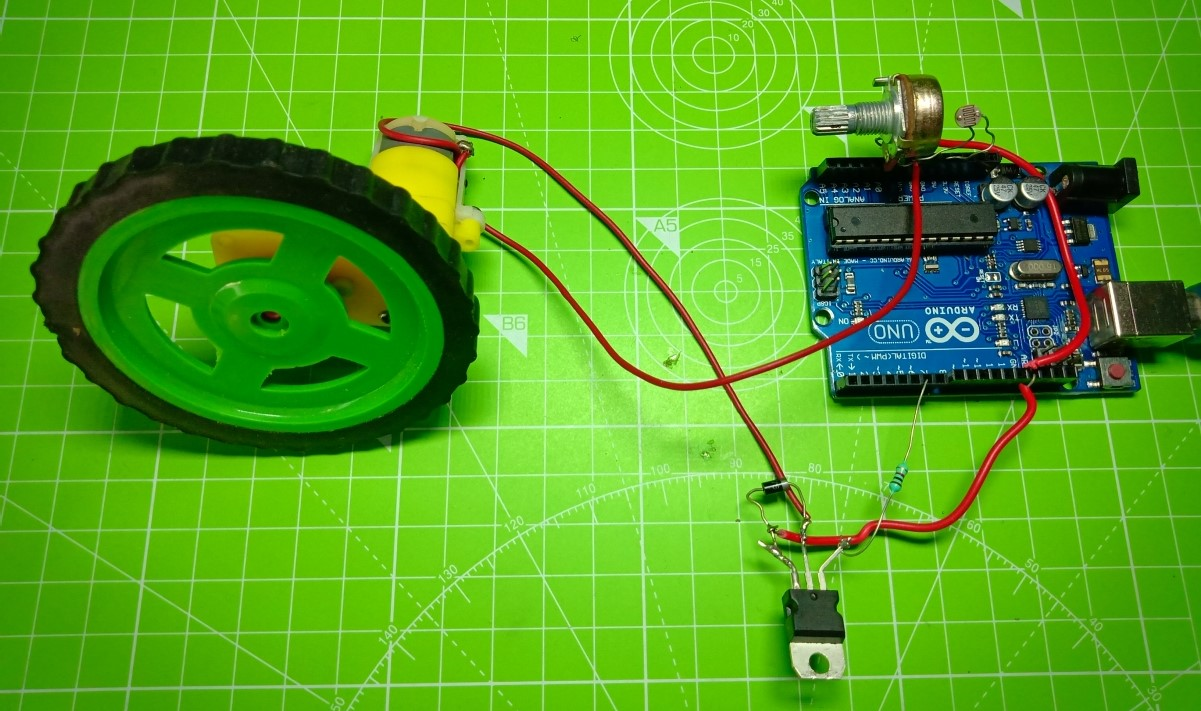 hight resolution of automated speed control of motor using ldr with arduino
