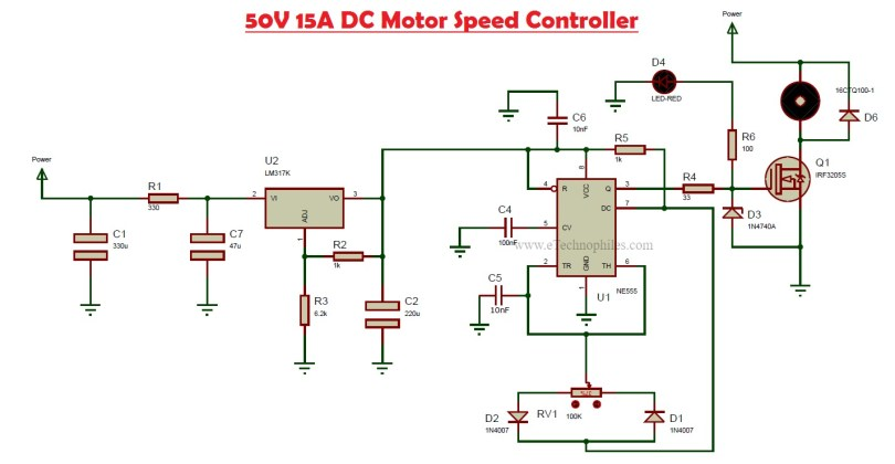 dc motor controller schematic diagram how to make a dc motor speed controller 50v  15a  how to make a dc motor speed controller