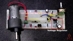 Voltage Regulator Circuit of Dc Motor Speed Controller