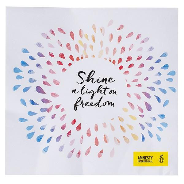 Amnesty Servetten 'Shine a light on freedom'