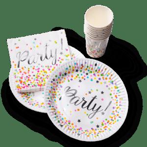8 Bordjes, bekers en servetten